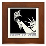 Statue of Liberty /Support Troops Framed Tile