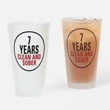 7 Years Clean & Sober Pint Glass