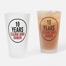 10 Years Clean & Sober Pint Glass