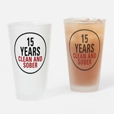 15 Years Clean & Sober Pint Glass