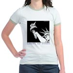 Statue of Liberty /Support Troops Jr. Ringer T-Shi