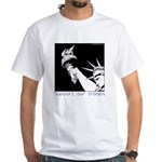 Statue of Liberty /Support Troops White T-Shirt
