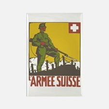Swiss Army Rectangle Magnet