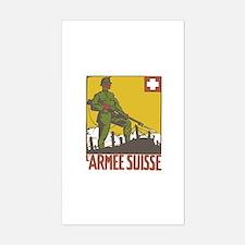 Swiss Army Sticker (Rectangle)