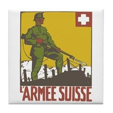 Swiss Army Tile Coaster