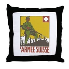 Swiss Army Throw Pillow