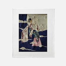 Chang 'E (Papyrus Ver.) Throw Blanket