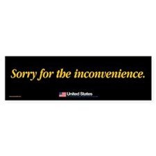 Sorry for the Inconvenience sticker