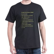 Top ten reasons distance swim Black T-Shirt