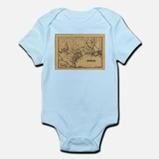 Vintage Map of Texas (1838) Body Suit