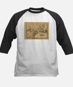Vintage Map of Texas (1838) Baseball Jersey