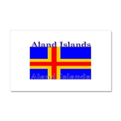 Aland Islands Flag Car Magnet 12 x 20
