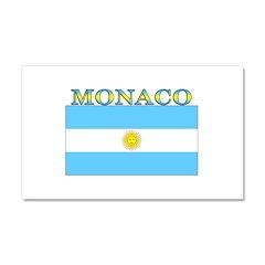 Monaco Argentina Flag Car Magnet 12 x 20