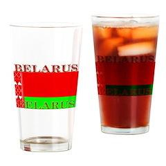 Belarus Belarussian Flag Pint Glass