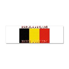 Belgium Belgian Flag Car Magnet 10 x 3