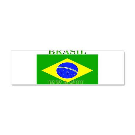 Brasil Flag Car Magnet 10 x 3