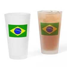Brazil Blank Flag Pint Glass