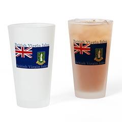 British Virgin Islands Flag Pint Glass