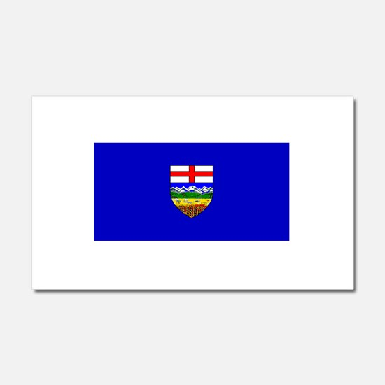 Alberta Albertan Blank Flag Car Magnet 12 x 20