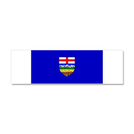 Alberta Albertan Blank Flag Car Magnet 10 x 3