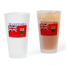 Manitoba Manitoban Flag Pint Glass