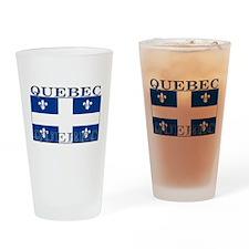 Quebec Quebecer Flag Pint Glass