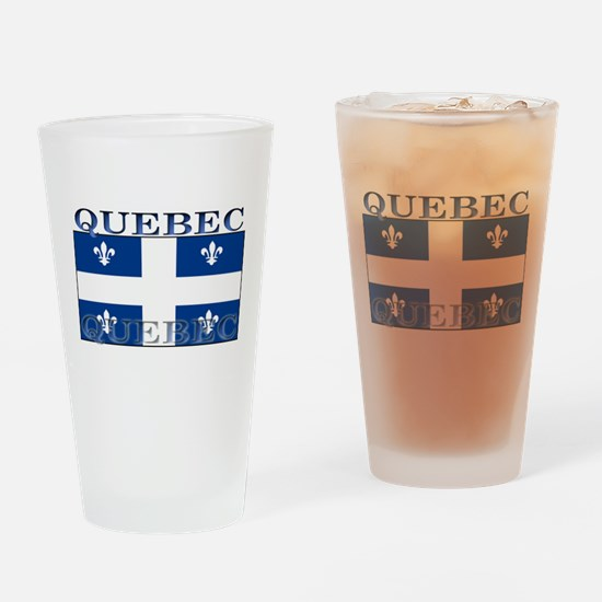 Quebec Quebecer Flag Pint Glass