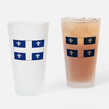 Quebec Quebecer Blank Flag Pint Glass