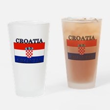 Croatia Croatian Flag Pint Glass
