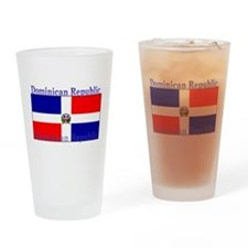 Dominican Republic Flag Pint Glass