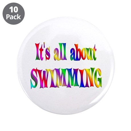 "About Swimming 3.5"" Button (10 pack)"
