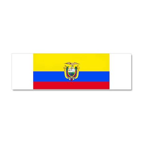 Ecuador Ecuadorian Blank Flag Car Magnet 10 x 3
