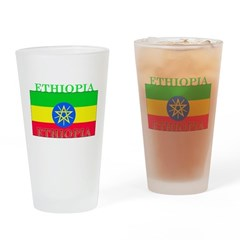 Ethiopia Ethiopian Flag Pint Glass