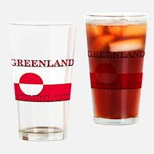Greenland Greenlander Flag Pint Glass
