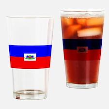 Haiti Blank Flag Pint Glass