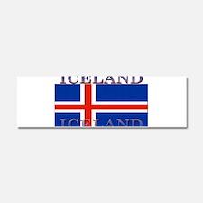 Iceland Car Magnet 10 x 3
