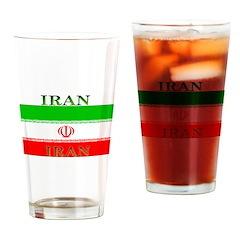 Iran Iranian Flag Pint Glass
