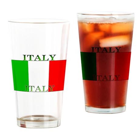 Italy Italian Flag Pint Glass