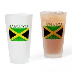 Jamaica Jamaican Flag Pint Glass