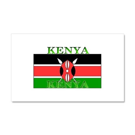 Kenya Kenyan Flag Car Magnet 12 x 20