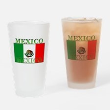 Mexico Mexican Flag Pint Glass