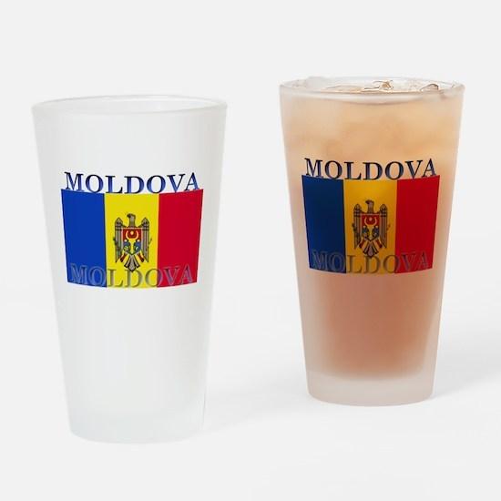 Moldova Moldovan Flag Pint Glass