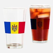 Moldova Moldovan Blank Flag Pint Glass