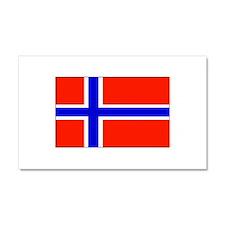 Norway Norwegian Blank Flag Car Magnet 12 x 20