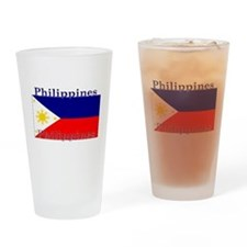 Philippines Filipino Flag Pint Glass