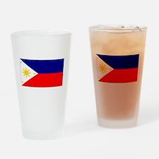 Filipino Pilipinas Blank Flag Pint Glass