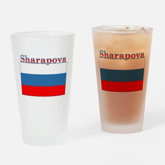 Sharapova Russia Flag Pint Glass