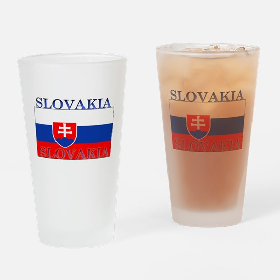 Slovakia Slovak Flag Pint Glass