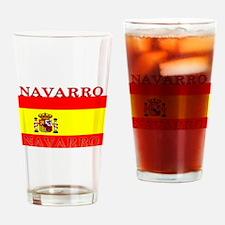 Navarro Spain Spanish Flag Pint Glass