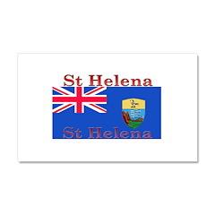 St Helena Car Magnet 12 x 20